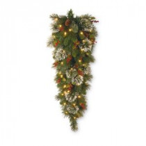 National Tree Company 48 in. Wintry Pine Teardrop with Clear Lights-WP1-306-4-1 300441249