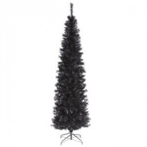 National Tree Company 6 ft. Black Tinsel Artificial Christmas Tree-TT33-704-60 300487957