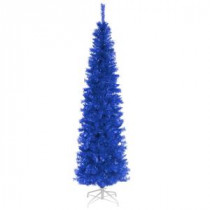 National Tree Company 6 ft. Blue Tinsel Artificial Christmas Tree-TT33-707-60 300487979