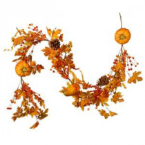 National Tree Company 6 ft. Pumpkin Garland-RAHV-LFG51870 207123495