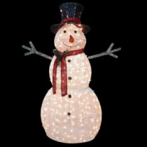 National Tree Company 60 in. Snowman Decoration with Clear Lights-DF-300001 205577219