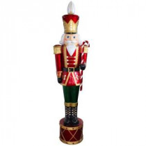 National Tree Company 65 in. Jeweled Nutcracker with 20 White LED Metallic Painting Finish-BGJN-65LW 205227546