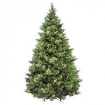 National Tree Company 7-1/2 ft. Carolina Pine Hinged Artificial Christmas Tree with 86 Flocked Cones and 750 Clear Lights-CAP3-306-75 207183116