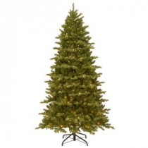 National Tree Company 7-1/2 ft. Feel Real Hampton Spruce Hinged Artificial Christmas Tree with 550 Clear Lights-PEHA3-307-75 207183266