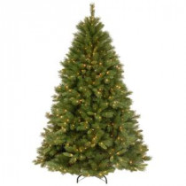 National Tree Company 7-1/2 ft. Winchester Pine Hinged Artificial Christmas Tree with 500 Clear Lights-WCH7-300-75 207183339