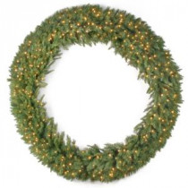National Tree Company 72 in. Tiffany Fir Artificial Wreath with Clear Lights-TF-72WLO 300182756