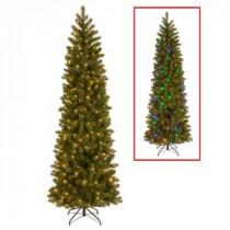 National Tree Company 7.5 ft. Downswept Douglas Pencil Slim Fir Artificial Christmas Tree with Dual Color LED Lights-PEDD4-392D-75 207183252