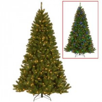 National Tree Company 7.5 ft. PowerConnect North Valley Spruce Artificial Christmas Tree with Dual Color LED Lights-NRV7-D00-75 207183208