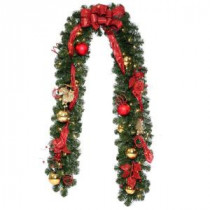 National Tree Company 9 ft. Decorative Collection Artificial Garland with 50 Clear Lights-DC3-161L-9B 206084815