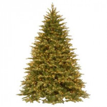 National Tree Company 9 ft. Feel Real Nordic Spruce Medium Hinged Artificial Christmas Tree with Clear Lights-PENS1-307-90 207183294
