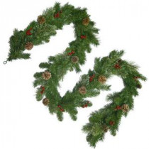 National Tree Company 9 ft. Unlit Cashmere Artificial Garland with Pinecones and Red Berries-CCB19-9A 205146863