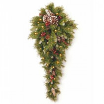 National Tree Company Frosted Berry 36 in. Teardrop with Battery Operated Warm White LED Lights-FRB-3TDL-B1 300441261