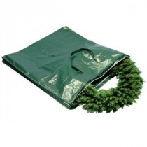 National Tree Company Heavy Duty Wreath and Garland Storage Bag with Handles and Zipper-Fits Up to 4 ft.-S-A-WBAG1 100649177