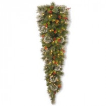 National Tree Company Wintry Pine 60 in. Teardrop with Clear Lights-WP1-306-5-1 300441259