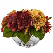 Nearly Natural 10 in. Autumn Hydrangea Berry with Vase-4897 206733641