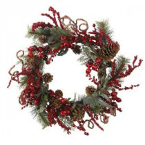 Nearly Natural 24 in. Assorted Berry Wreath-4838 100686413