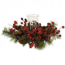 Nearly Natural Holiday Candelabrum Silk Flower Arrangement-4654 100653810