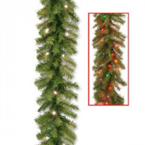 Norwood Fir 9 ft. Garland with Battery Operated Dual Color LED Lights-NF-304D-9AB-1 300330647