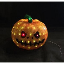 Novolink 11.8 in. 80-Light White LED Decorative Pumpkin-AS-PK80 300251532