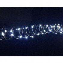 Novolink 20-Light Cool White LED Battery Operated String Light with 3.4 ft. Silver Wire-SW-CW20 300188358