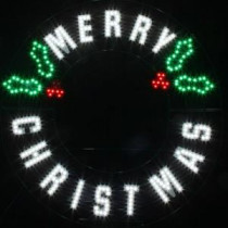 Red/Green/White LED Message - Merry Christmas Wreath-7407437UHO 207017037