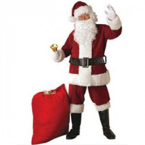 Rubie's Costumes Extra Large Crimson Regal Plush Santa Suit Adult Costume-23371XL 204424109