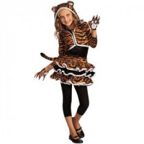 Rubie's Costumes Girls Tigress Hoodie Costume-R881379_M 205470147