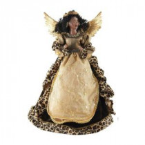Santa's Workshop 16 in. AA Leopard Angel Tree Topper-3099 207146561