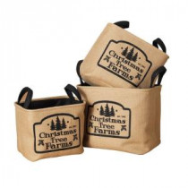 Soft Jute Christmas Tree Farms Storage Basket (Set of 3)-2224860 206642680