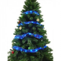 Starlite Creations 12 ft. 36-LED Blue Ribbon Lights-RL33-B012-A 202371860