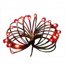 Starlite Creations 9 ft. 36-Light Battery Operated LED Red Ultra Slim Wire (Bundle of 2)-BA03-R036-A1B 202371871