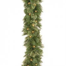 Wispy Willow 9 ft. Garland with Clear Lights-WO1-9ALO-1 300330633