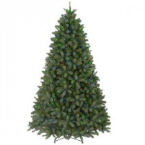 10 ft. Feel-Real Downswept Douglas Fir Artificial Christmas Tree with 1000 Multi-Color Lights-PEDD4-325-100 204159745