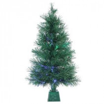3 ft. Pre-Lit Fiber Optic Artificial Christmas Tree with 50 UL Clear Lights-6515--36 300539373