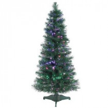 4 ft. Pre-Lit Fiber Optic Artificial Christmas Tree with 166 tips-6515--48 300539374