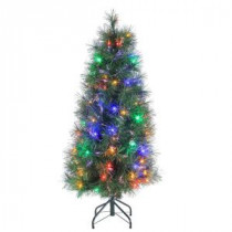 4 ft. Pre-Lit Multicolored Fiber Optic Artificial Christmas Tree with 152 tips-6516--48 300539376