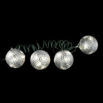 4 in. 36-Light LED White Tinsel Wire Ornaments (4-Pieces)-NL11-1WS036-A 202938539