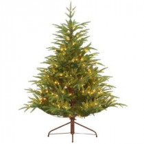 4.5 ft. Feel-Real Fraser Grande Artificial Christmas Tree with 250 Clear Lights-PEFG4-308-45 205983457