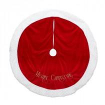 48 in. Embroidered Velvet Tree Skirt-2481633-1ZSAHC 205187682