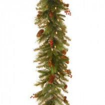 6 ft. Noelle Garland with Battery Operated Warm White LED Lights-NL13-300L-6B-1 300330493