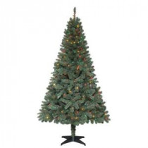 6.5 ft. Verde Spruce Artificial Christmas Tree with 400 Multi-Color Lights-TG66M2V36M00 205080441