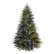 7.5 ft. Evergreen Quick-Set Artificial Christmas Tree with 550 Color Choice LED Lights-W-2248-75T 205983400