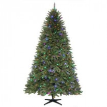 7.5 ft. Matthew Fir Quick-Set Artificial Christmas Tree with 450 Color Choice LED Lights and Remote Control-TG76M2V39D00 205915389