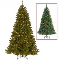 7.5 ft. North Valley Spruce Artificial Christmas Tree with 500 9-Function LED Lights-NRV7-324D-75 205146906