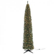 9 ft. Brighton Pencil Artificial Christmas Tree with 500 Clear Lights-TV90CH520S00 204150079