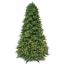 9 ft. Pre-Lit LED Balsam Fir Artificial Christmas Tree with Warm White Lights-4201102-IP51HO 206771078