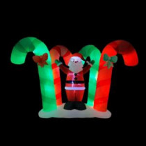 92.5 in. Inflatable Candy Cane Forest with Santa-5524445 207045238