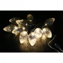 Alpine 10-Light LED Light Bulbs Faceted Clear Decorative String Lights Decor (Set of 10)-EUT100CL-10 207140327