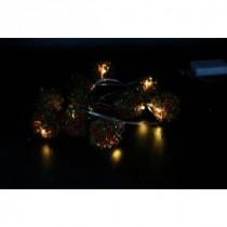 Alpine 10-Light LED White Lights with Rattan Ball String Light Decor-CIM168 207140321