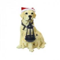 Alpine 12 in. Solar Christmas Dog Family with Motion Censored Bark-YCC148SLR 207140367